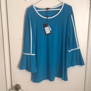 NWT Bell-sleeved top with side slits